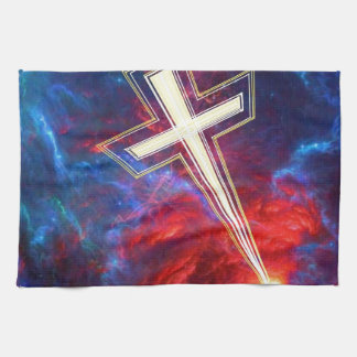 The Chrisian Cross out of The Heavens Kitchen Towels