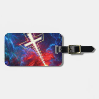 The Chrisian Cross out of The Heavens Luggage Tags
