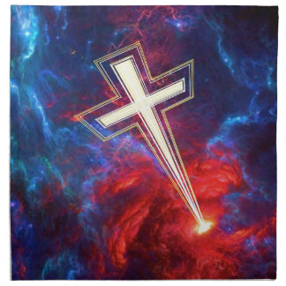 The Chrisian Cross out of The Heavens Cloth Napkins