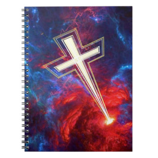 The Chrisian Cross out of The Heavens Spiral Notebook