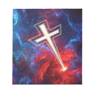 The Chrisian Cross out of The Heavens Memo Notepads