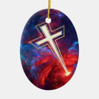 The Chrisian Cross out of The Heavens Christmas Ornaments