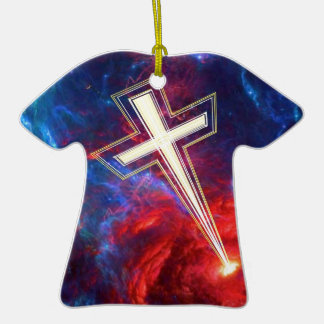 The Chrisian Cross out of The Heavens Christmas Tree Ornaments