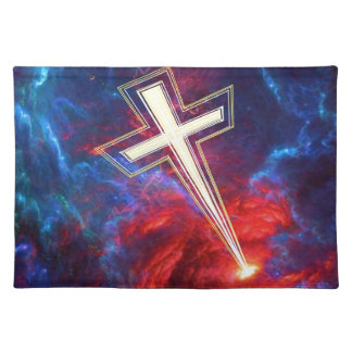 The Chrisian Cross out of The Heavens Placemats