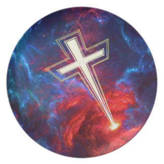 The Chrisian Cross out of The Heavens Plate