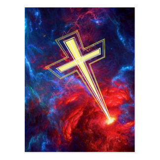 The Chrisian Cross out of The Heavens Post Card