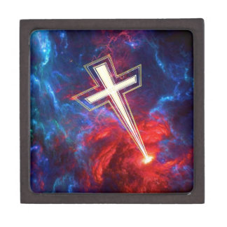 The Chrisian Cross out of The Heavens Premium Trinket Boxes