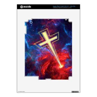 The Chrisian Cross out of The Heavens iPad 3 Skin