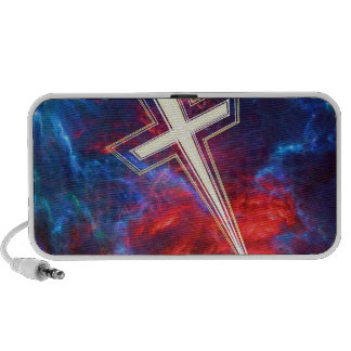 The Chrisian Cross out of The Heavens Notebook Speakers