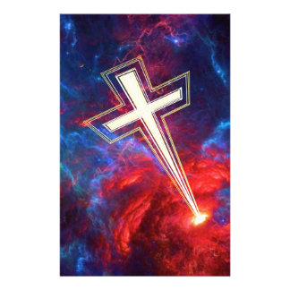 The Chrisian Cross out of The Heavens Stationery Design