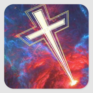 The Chrisian Cross out of The Heavens Stickers