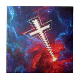 The Chrisian Cross out of The Heavens Ceramic Tiles