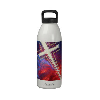 The Chrisian Cross out of The Heavens Reusable Water Bottles