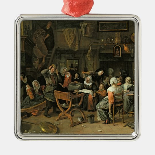 The Christening Feast, 1668 Metal Ornament