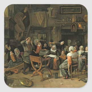 The Christening Feast, 1668 Square Sticker
