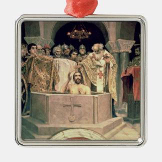 The Christening of Grand Duke Vladimir , 1885-96 Metal Ornament