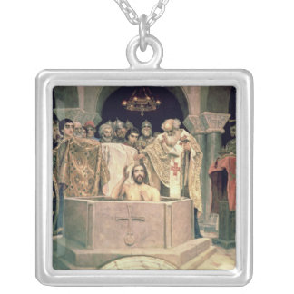 The Christening of Grand Duke Vladimir , 1885-96 Silver Plated Necklace