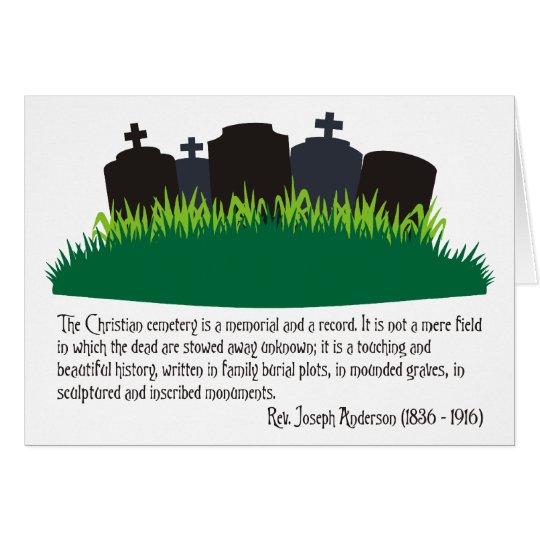 The Christian Cemetery Card
