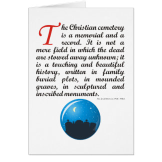 The Christian Cemetery Greeting Card