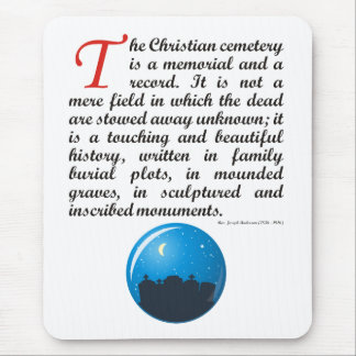 The Christian Cemetery Mouse Pad