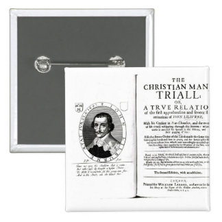 The Christian Man's Trial' by John Lilburne 2 Inch Square Button