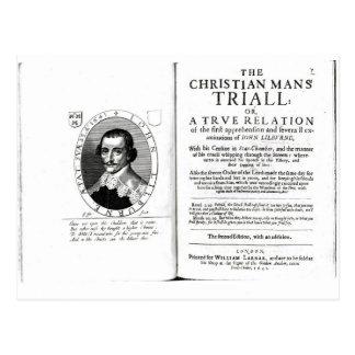 The Christian Man's Trial' by John Lilburne Postcard
