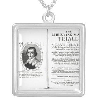 The Christian Man's Trial' by John Lilburne Silver Plated Necklace
