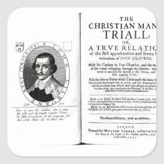 The Christian Man's Trial' by John Lilburne Stickers