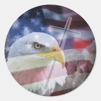 The Christian Patriot. Classic Round Sticker