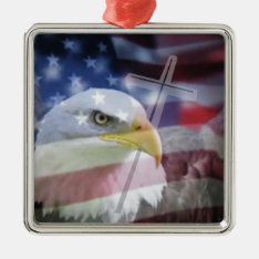 The Christian Patriot. Metal Ornament at Zazzle