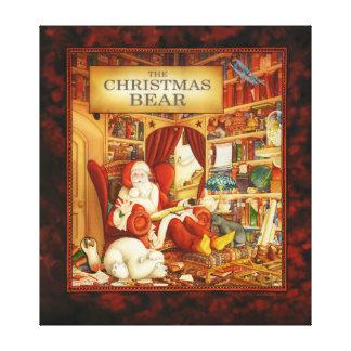 The Christmas Bear Art - Santa Claus's Study Gallery Wrap Canvas
