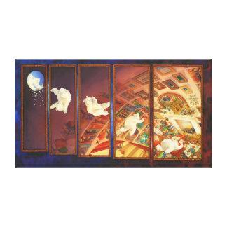 The Christmas Bear - Christmas Art Canvas Prints