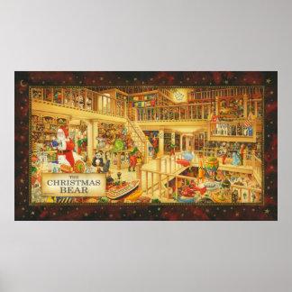 The Christmas Bear Print