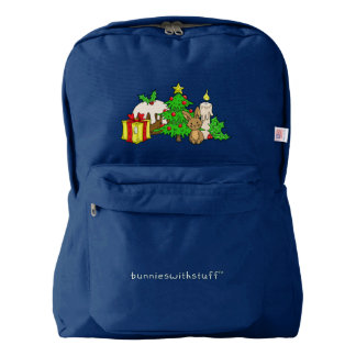 The Christmas Bunny American Apparel™ Backpack