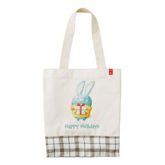 The Christmas Bunny Zazzle HEART Tote Bag