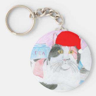 The Christmas Cat By Julia Hanna Keychain