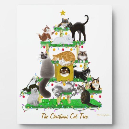 The Christmas Cat Tree Plaque