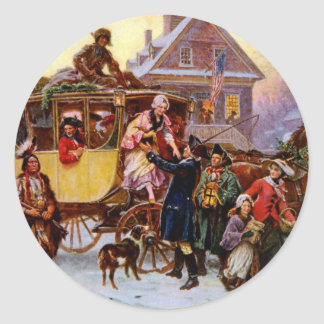 The Christmas Coach Classic Round Sticker