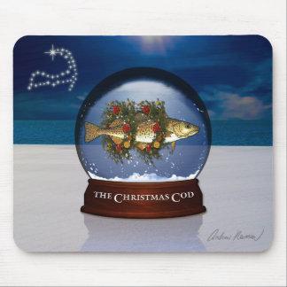 The Christmas Cod Snow Globe Mousepad