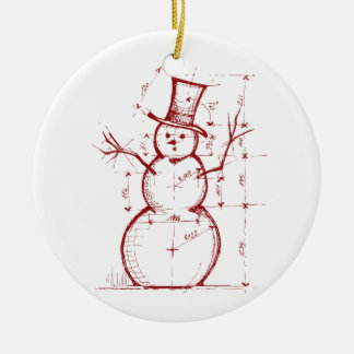 The Christmas Engineer Double-Sided Ceramic Round Christmas Ornament