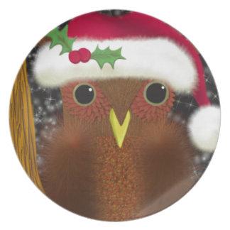 The Christmas Eve Owl ~ Dinner Plate