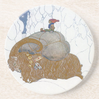 The Christmas Goat by John Bauer Drink Coaster