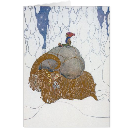 The Christmas Goat Julbok by John Bauer Card