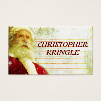 The Christmas List Business Card