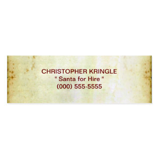 The Christmas List Double-Sided Mini Business Cards (Pack Of 20)