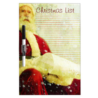 The Christmas List Dry Erase Board