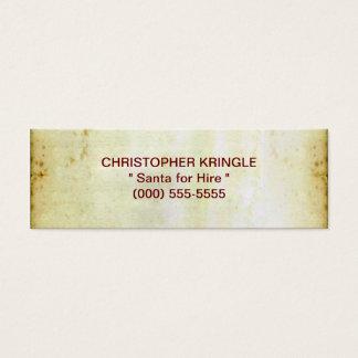 The Christmas List Mini Business Card