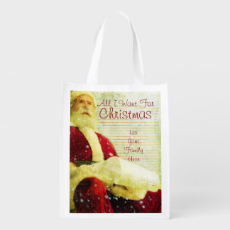 The Christmas List Reusable Grocery Bags
