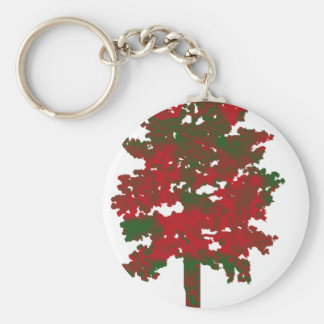 The Christmas Look Basic Round Button Keychain