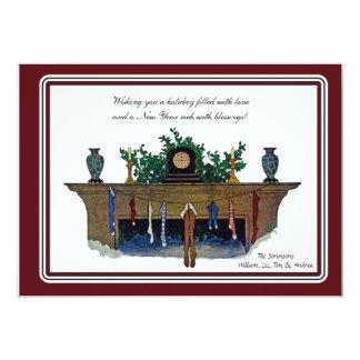 The Christmas Mantel - Holiday Card